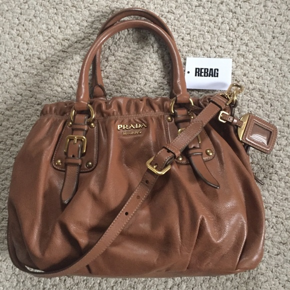 a347e97fcb735d Prada Brown Cervo Leather Convertible Satchel. M_5be09b813e0caa850c34d0e0